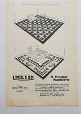Pubblicità 1929 PAVIMENTO LINOLEUM paper advertising publicitè werbung reklame