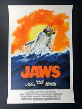 Jaws limited movie print by Robert Tanenbaum from Bottleneck Ships Asap