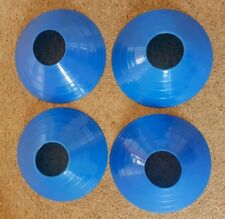 Safety Cones - x4 - Blue - training & coach aids - Excellent Condition