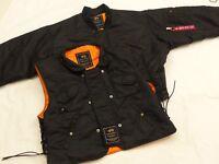 Alpha Industries bomber aviateur veste + gilet noir X-FORCE gr : XL COMME NEUF