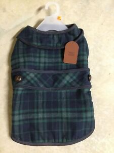 WAG n' WOOF GREEN PLIAD JACKET Fleece Lined Puppy/Dog large