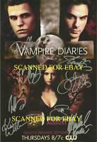 THE VAMPIRE DIARIES CAST SIGNED 8X10 RP PHOTO BY 8 NINA DOBREV IAN SOMERHALDER +