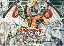 YU-GI-OH PLAYMAT FROM THE CYBER DRAGON REVOLUTION DECK DECK