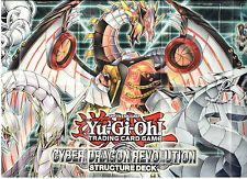 YU-Gi-Oh Playmat dalla Rivoluzione Cyber Drago Deck Mazzo
