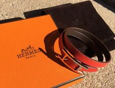 Hermes Behapi Double Tour Reversible Leather Bracelet Api Hapi