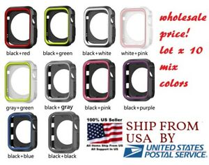 lot 10 Silicone cover 38/40mm 42mm 44mm For Nike+ Apple Watch Series 1 2 3 4 5