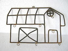 ANTIQUE IRON DECORATIVE HOUSE . LARGE