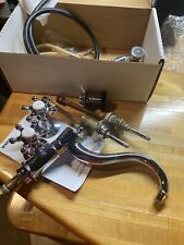 K-158-3-CP Kohler Antique Kitchen Faucet with Side Spray Chrome Used