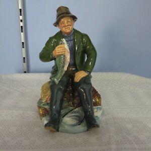 Royal Doulton HN2258 'A Good Catch' Fisherman / Fishing Figurine