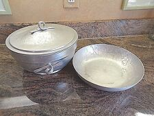 Collection of 2 Vintage Aluminum Serving Pieces...
