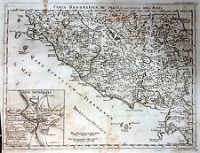 Carta geografica de' paesi che sono nel mezzo dell'Italia - Rollin -  metà '700