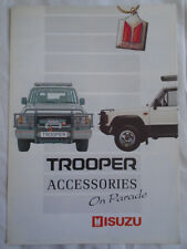 Isuzu Trooper Accessories brochure Apr 1990