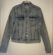 Gap Denim Jean Jacket Women's Small S Classic Stone Acid Wash Distressed