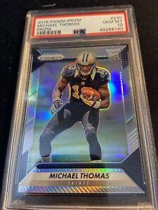 2016 Prizm Michael Thomas Rookie Silver PSA 10