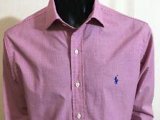 Ralph Lauren Pink Check Dress Shirt Size 16 - 40