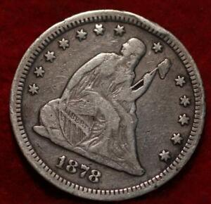 1878-CC Carson City Mint Silver Seated Liberty Quarter