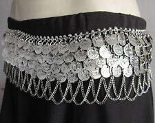 Coin Belt Tribal Belly Dance Gypsy Vintage Boho Costume Skirt Waist Hip Jewelry