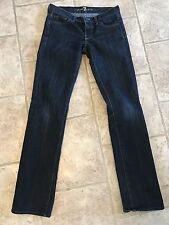 7 for All Mankind Womens Lowrise Straight Leg Dark 'Gold Digger' Jeans 25x32