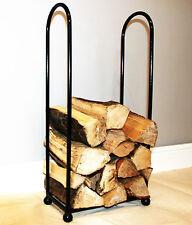 Curved Wrought Iron Steel Log Basket/Holder