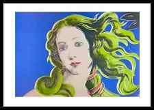 Andy Warhol Venus blau Poster Bild Kunstdruck mit Alu Rahmen in schwarz 70x100cm