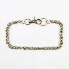 Biker Wallet Chain Small Weave Schlüsselkette Geldbörsen Schwere Kette NEU