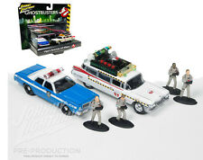 Ghostbusters ECTO 1A Dodge Monaco Police Diorama 1/64 Johnny Lightning JLCP7041