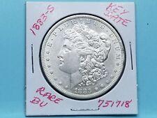 1883-S $ MORGAN SILVER DOLLAR RARE KEY DATE FROSTY WHITE #751718-84BB