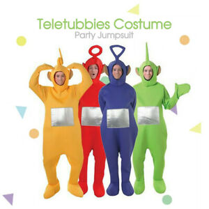 Party Fancy Teletubbies Adult JumpsuitDress Up Unisex Outfit Halloween Costume