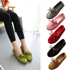 Women's Causal Slip On Round Toe Boat Flat Sandal Shoes Loafers  Moccasins Shoes