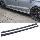 For 2013-2019 Audi A3 Sedan Side Skirt Door Bottom Extension Lip Unpainted Black