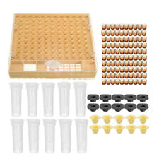 131x Complete Bee Queen Rearing Cup kit Box System Beekeeping Cage Cell Cup Kit