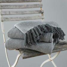 Country Club Como Grey Cotton Throw 127cm X 152cm Sofa Chair Bed Cover