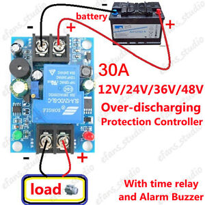 12V 24V 36V 48V 30A Battery anti-over discharge control protection Relay Board