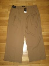 NEXT Tailored Tan Brown Wide Leg Trousers Size 20 R Leg 31 With Tags