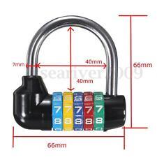 5Dial Digit Combination Travel Suitcase Security Code Password Lock Safe Padlock