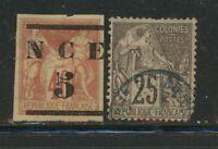 Lot France New Caledonia 1883 M/U, 1649