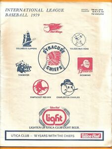 1979 Syracuse Chiefs - Columbus Clippers scored program playoff game & news clip