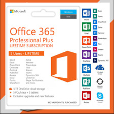 **Office 365--✔️PROF (5 devices per user) *NEW* PC/Mac Accout EMAIL DELIVERY