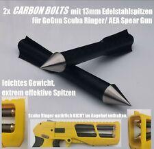 2x Carbon-Harpunen/ Bolzen/ Pfeile 13mm V2A für GoGun SCUBA RINGER/AEA Spear Gun