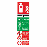 NEW! Safety Sign Carbon Dioxide Fire Extinguisher 280x90mm PVC F103/R