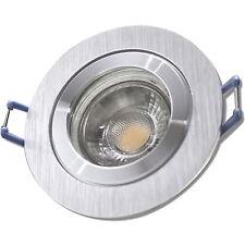 IP44 LED Einbaustrahler / 230V / 5W / MCOB / Bicolor / Warmweiß / Feuchtraum Bad