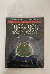 Atlanta Braves 1996 Commemorative Program Game Fulton County Stadium 9/23/96 31