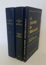 A Course in Miracles by Foundation for Inner Peace 3 Volume Manual Text Workbook