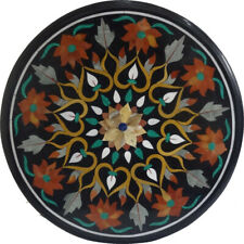 """18"""" x 18"""" Round Marble Coffee Center Table Top Inlay Art Work"""
