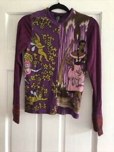 """Custo Barcelona Top""""Women Of The Year"""" Purple Color Size Medium New No Tags"""