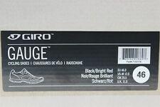 Giro Gauge Mens Cycling Shoes Black/Bright Red EU 46 US 12