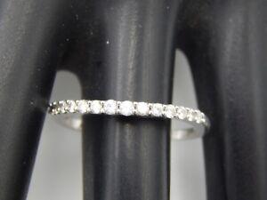 Lovely .35 tcw ROUND Diamond Ring Wedding Band 14K white gold G/SI2