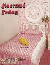 Macrame Today Vintage Pattern Book NEW 1976 Lamp Coverlet Hanging Chair Baskets