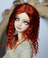 Bjd Wig 1/3 8-9 Dal Pullip BJD SD DZ DOC DOD Dollfie doll red Hair 22-24cm