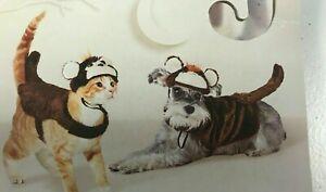 NEW MONKEY PET sz med HALLOWEEN COSTUME HAT VEST DRESS UP HYDE EEK CAT dog